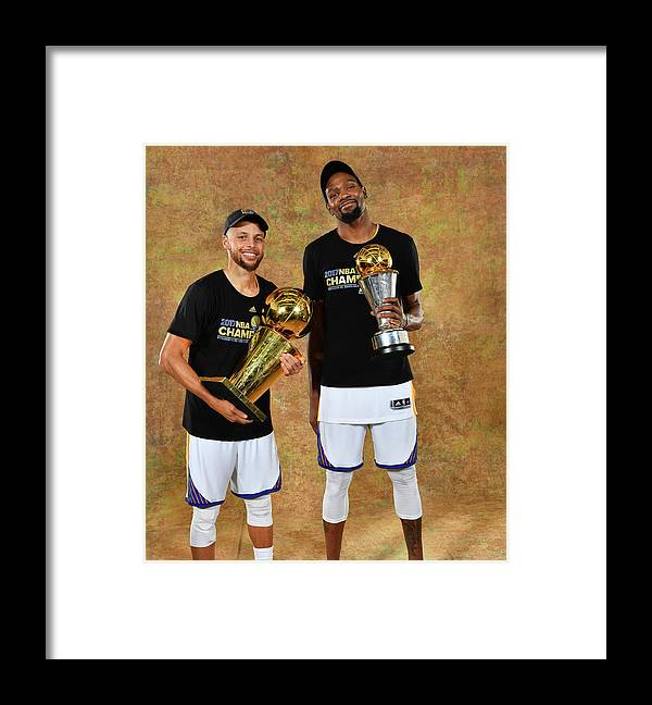 Playoffs Framed Print featuring the photograph Stephen Curry and Kevin Durant by Jesse D. Garrabrant
