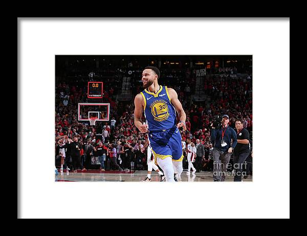 Nba Pro Basketball Framed Print featuring the photograph Stephen Curry by Sam Forencich