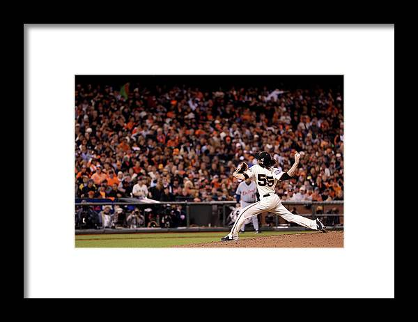 San Francisco Framed Print featuring the photograph Tim Lincecum by Christian Petersen