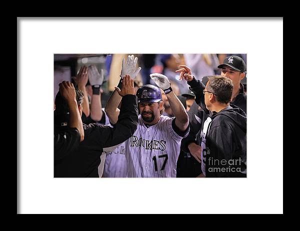 Ninth Inning Framed Print featuring the photograph Todd Helton by Doug Pensinger