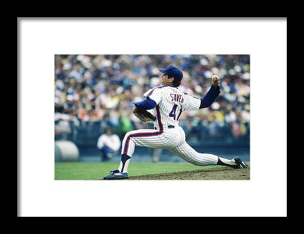 Archive Historical Profile Sideview Side View Mlb Major League B Framed Print featuring the photograph Tom Seaver by Rich Pilling