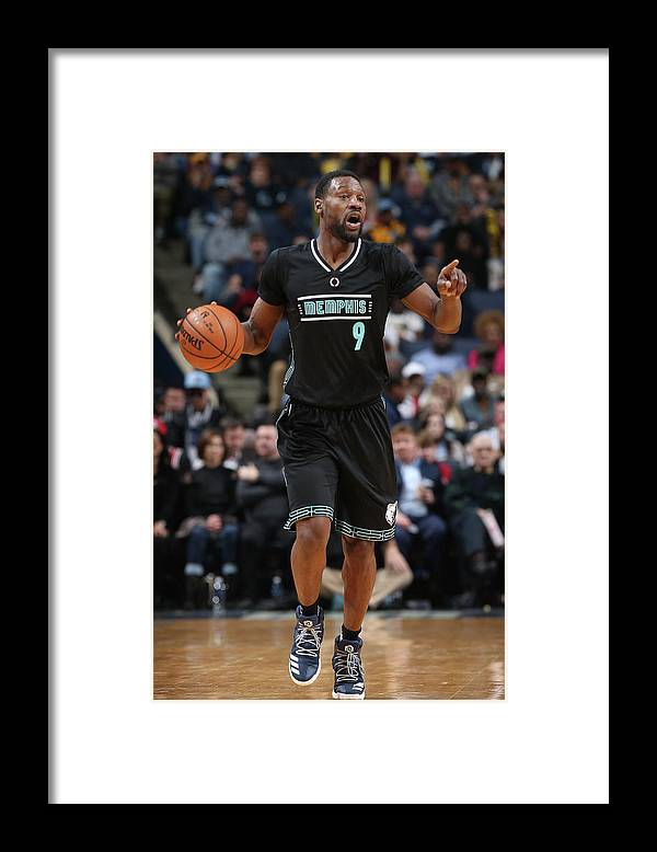 Nba Pro Basketball Framed Print featuring the photograph Tony Allen by Joe Murphy