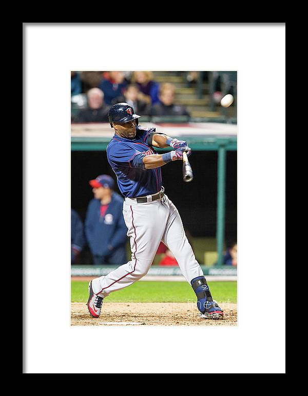 Game Two Framed Print featuring the photograph Torii Hunter by Jason Miller
