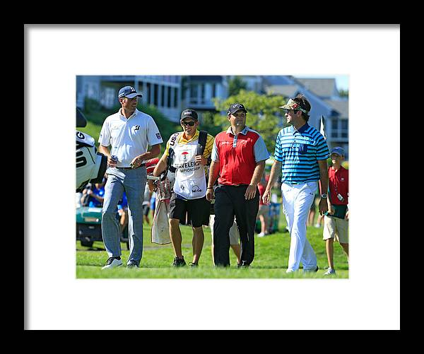 Tpc River Highlands Framed Print featuring the photograph Travelers Championship - Round One by Michael Cohen
