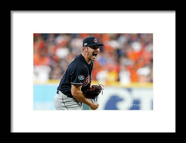 Game Two Framed Print featuring the photograph Trevor Bauer by Tim Warner