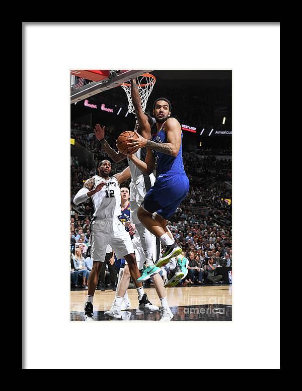 Playoffs Framed Print featuring the photograph Trey Lyles by Garrett Ellwood