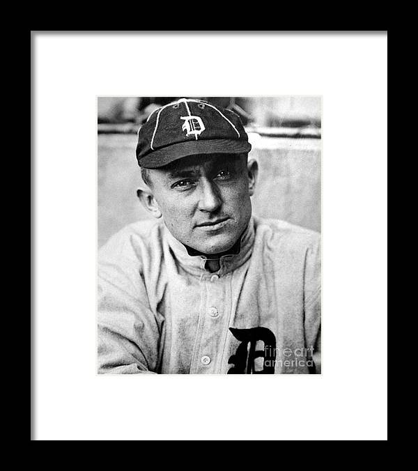 National League Baseball Framed Print featuring the photograph Ty Cobb by National Baseball Hall Of Fame Library