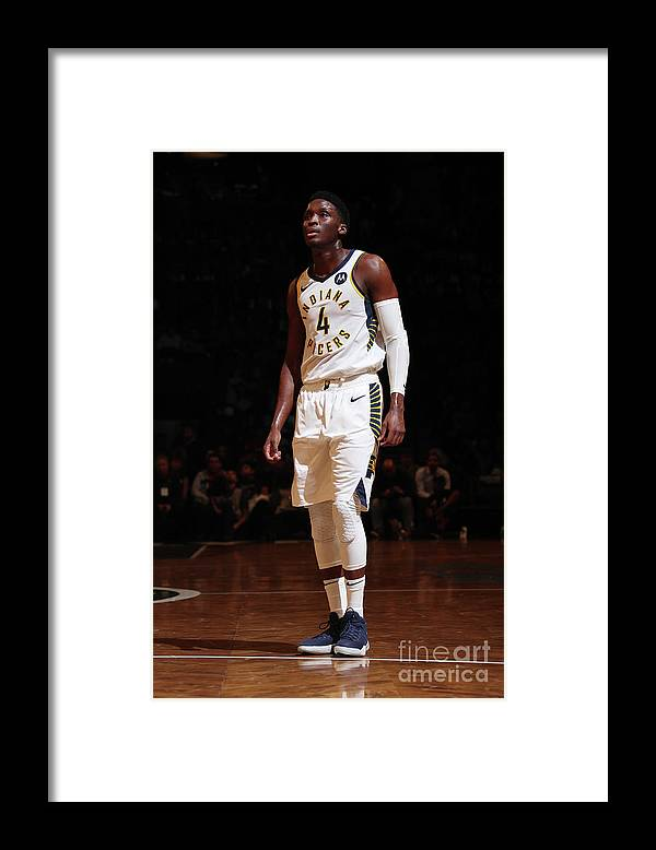 Nba Pro Basketball Framed Print featuring the photograph Victor Oladipo by Nathaniel S. Butler