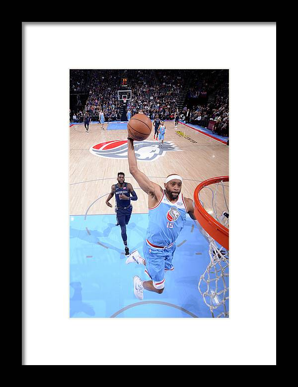 Nba Pro Basketball Framed Print featuring the photograph Vince Carter by Rocky Widner