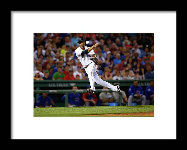 American League Baseball Framed Print featuring the photograph Xander Bogaerts by Jared Wickerham