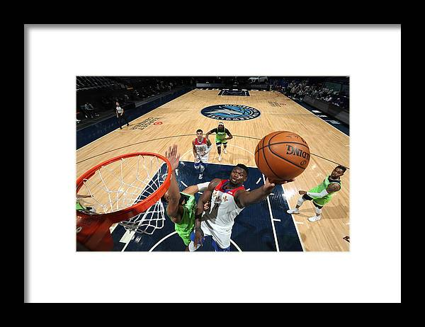 Nba Pro Basketball Framed Print featuring the photograph Zion Williamson by David Sherman