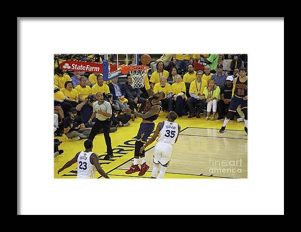 Playoffs Framed Print featuring the photograph Lebron James by Joe Murphy