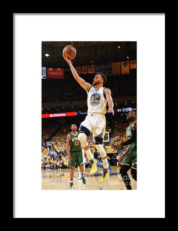 Playoffs Framed Print featuring the photograph Stephen Curry by Andrew D. Bernstein