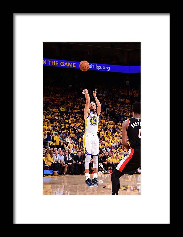 Playoffs Framed Print featuring the photograph Stephen Curry by Noah Graham