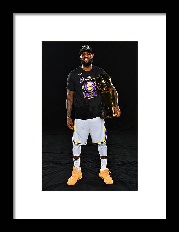 Playoffs Framed Print featuring the photograph Lebron James by Jesse D. Garrabrant