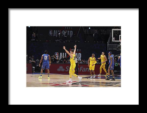 Atlanta Framed Print featuring the photograph Stephen Curry by Nathaniel S. Butler