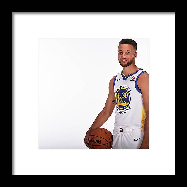 Media Day Framed Print featuring the photograph Stephen Curry by Noah Graham