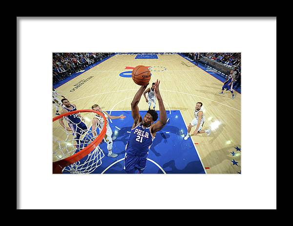 Nba Pro Basketball Framed Print featuring the photograph Joel Embiid by Jesse D. Garrabrant