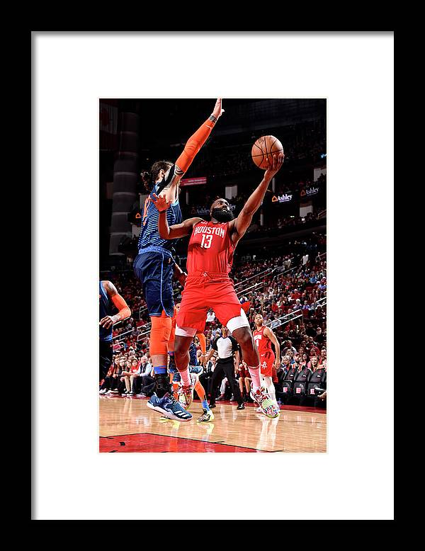 Nba Pro Basketball Framed Print featuring the photograph James Harden by Bill Baptist