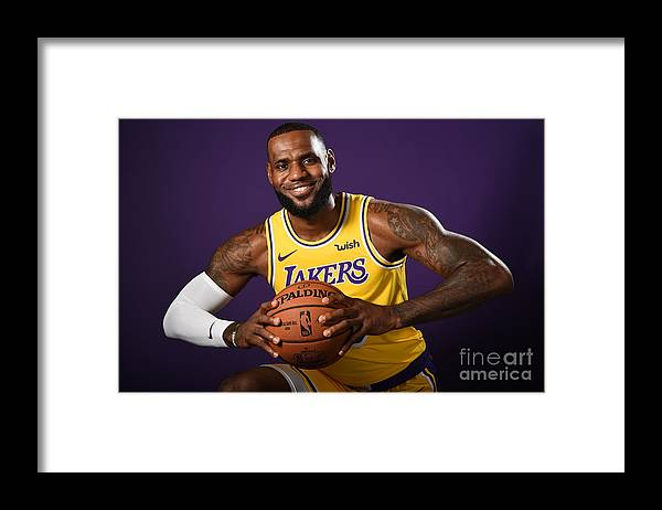 Media Day Framed Print featuring the photograph Lebron James by Andrew D. Bernstein