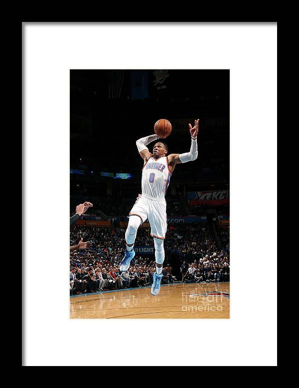 Nba Pro Basketball Framed Print featuring the photograph Russell Westbrook by Layne Murdoch