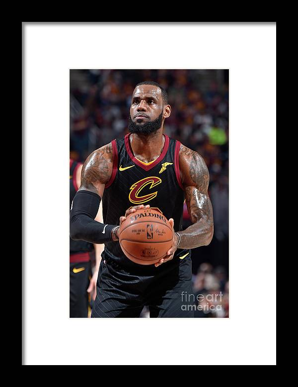 Playoffs Framed Print featuring the photograph Lebron James by David Liam Kyle
