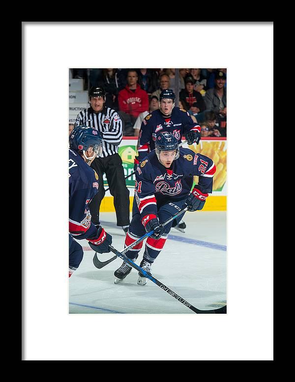 Brandt Center Framed Print featuring the photograph 2018 Memorial Cup - Semifinals by Marissa Baecker