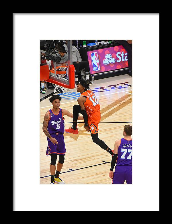 Nba Pro Basketball Framed Print featuring the photograph 2020 NBA All-Star - Rising Stars Game by Bill Baptist