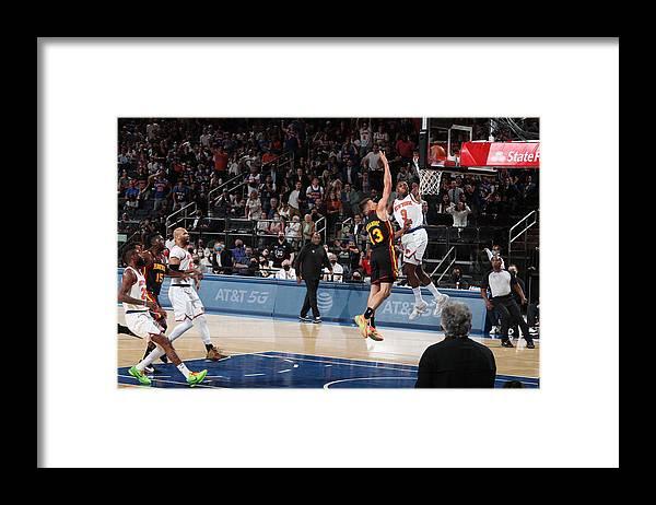 Playoffs Framed Print featuring the photograph 2021 NBA Playoffs - Atlanta Hawks v New York Knicks by Nathaniel S. Butler