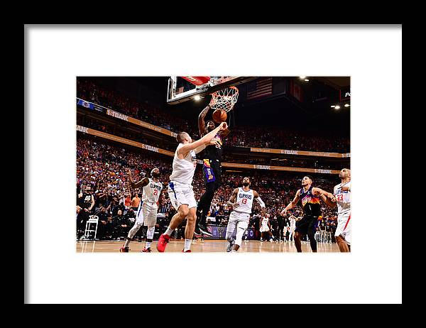 Playoffs Framed Print featuring the photograph 2021 NBA Playoffs - LA Clippers v Phoenix Suns by Barry Gossage