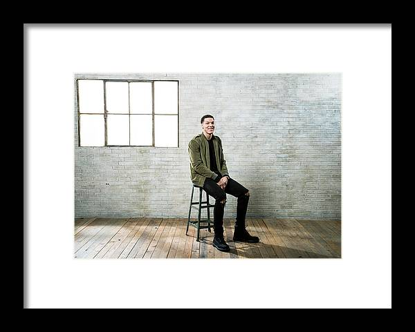 Nba Pro Basketball Framed Print featuring the photograph Aaron Gordon by Nathaniel S. Butler
