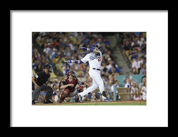 California Framed Print featuring the photograph Adrian Gonzalez by Stephen Dunn