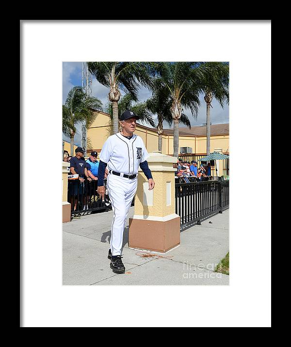 People Framed Print featuring the photograph Al Kaline by Mark Cunningham