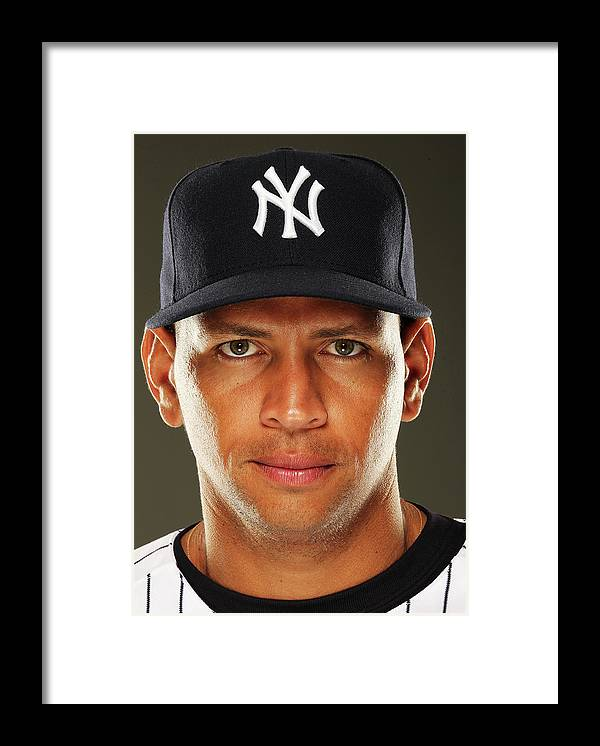 Media Day Framed Print featuring the photograph Alex Rodriguez by Al Bello