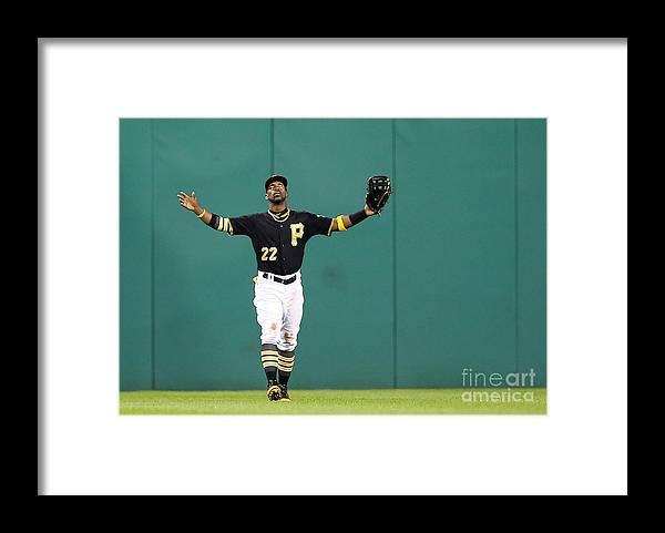 People Framed Print featuring the photograph Andrew Mccutchen by Jared Wickerham