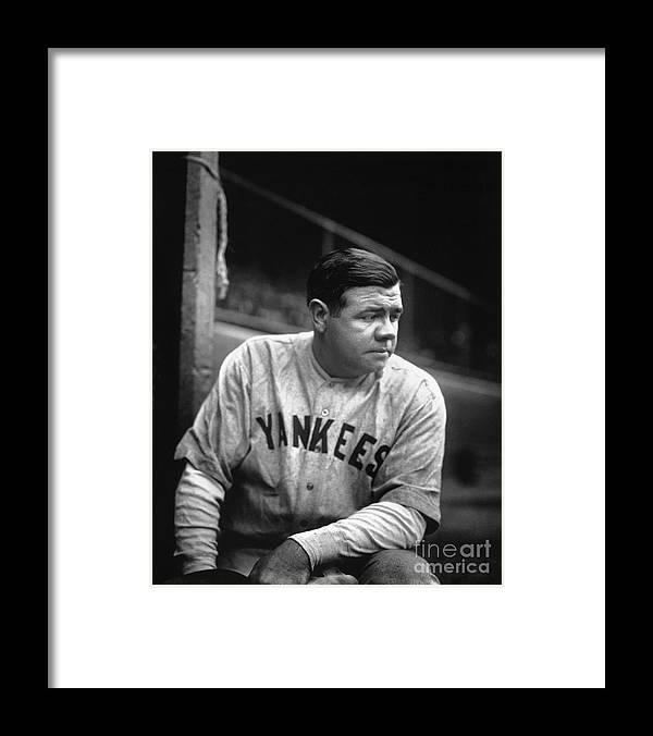 People Framed Print featuring the photograph Babe Ruth by National Baseball Hall Of Fame Library