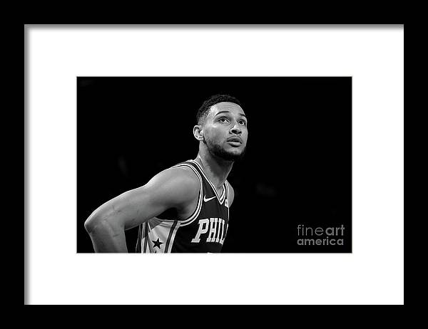 Nba Framed Print featuring the photograph Ben Simmons by Nathaniel S. Butler