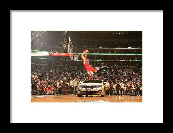 Kia Framed Print featuring the photograph Blake Griffin by Nathaniel S. Butler