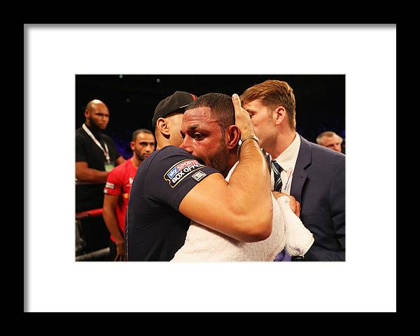 Contest Framed Print featuring the photograph Boxing at O2 Arena by Richard Heathcote