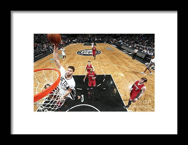 Nba Pro Basketball Framed Print featuring the photograph Brook Lopez by Nathaniel S. Butler