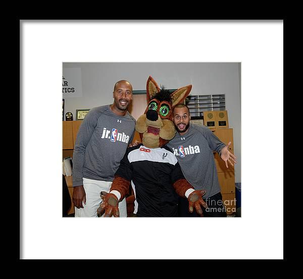 Nba Pro Basketball Framed Print featuring the photograph Bruce Bowen by D. Clarke Evans
