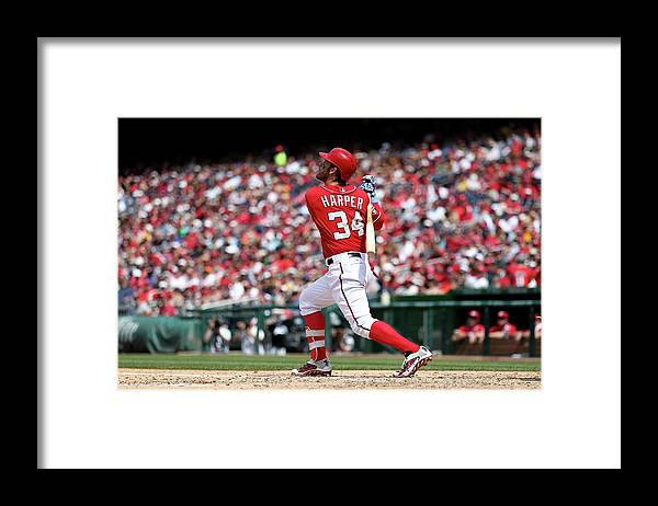 People Framed Print featuring the photograph Bryce Harper by Patrick Smith