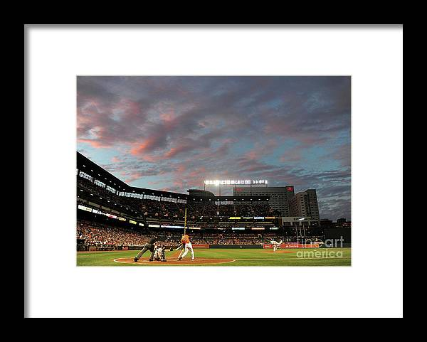 Second Inning Framed Print featuring the photograph Chris Davis by Greg Fiume