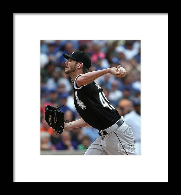 Three Quarter Length Framed Print featuring the photograph Chris Sale by Jonathan Daniel