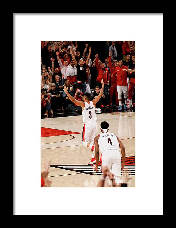 Playoffs Framed Print featuring the photograph C.j. Mccollum by Cameron Browne