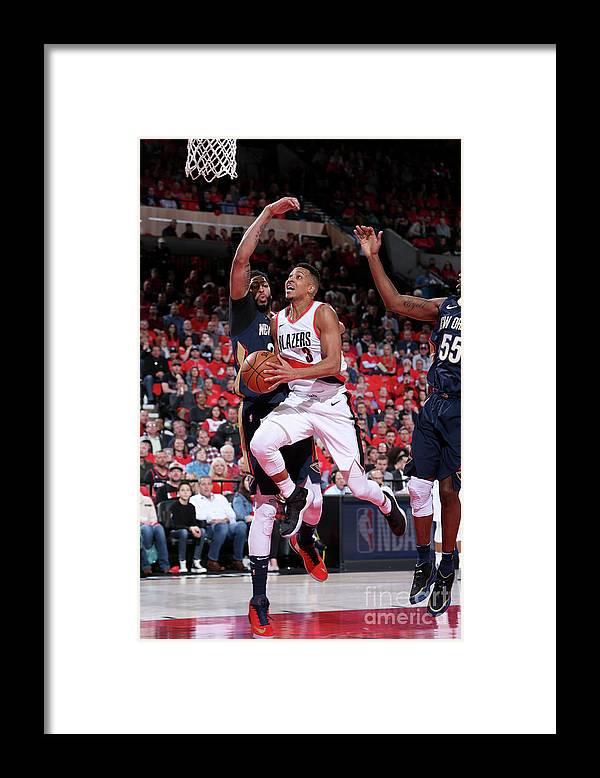 Playoffs Framed Print featuring the photograph C.j. Mccollum by Sam Forencich