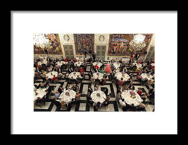 Event Framed Print featuring the photograph Crown Prince Frederik of Denmark Holds Gala Banquet At Christiansborg Palace by Ole Jensen