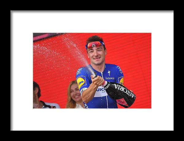 England Framed Print featuring the photograph Cycling: 101th Tour of Italy 2018 / Stage 2 by Tim de Waele
