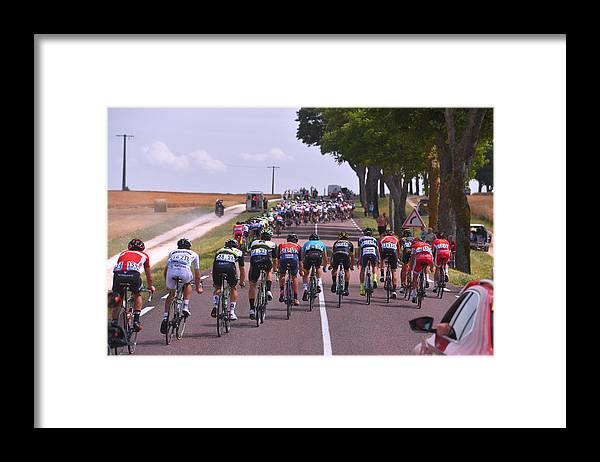 Peloton Framed Print featuring the photograph Cycling: 104th Tour de France 2017 / Stage 7 by Tim de Waele