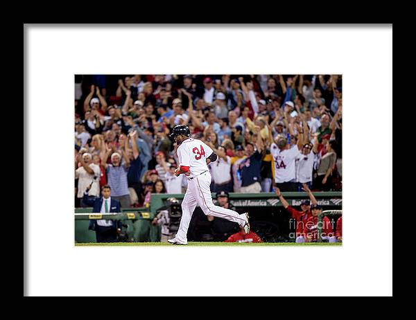 People Framed Print featuring the photograph David Ortiz by Billie Weiss/boston Red Sox